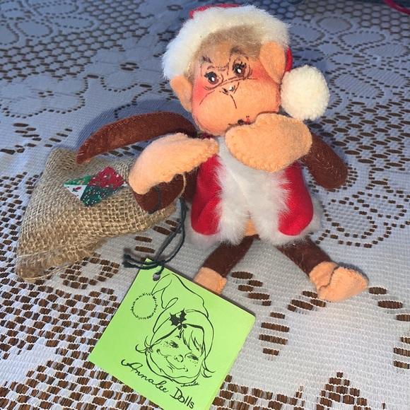 🍭ANNALEE CHRISTMAS HOLIDAY MONKEY & BANANA